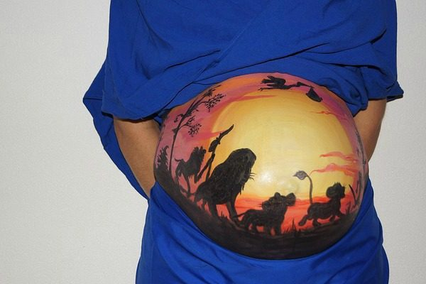belly painting